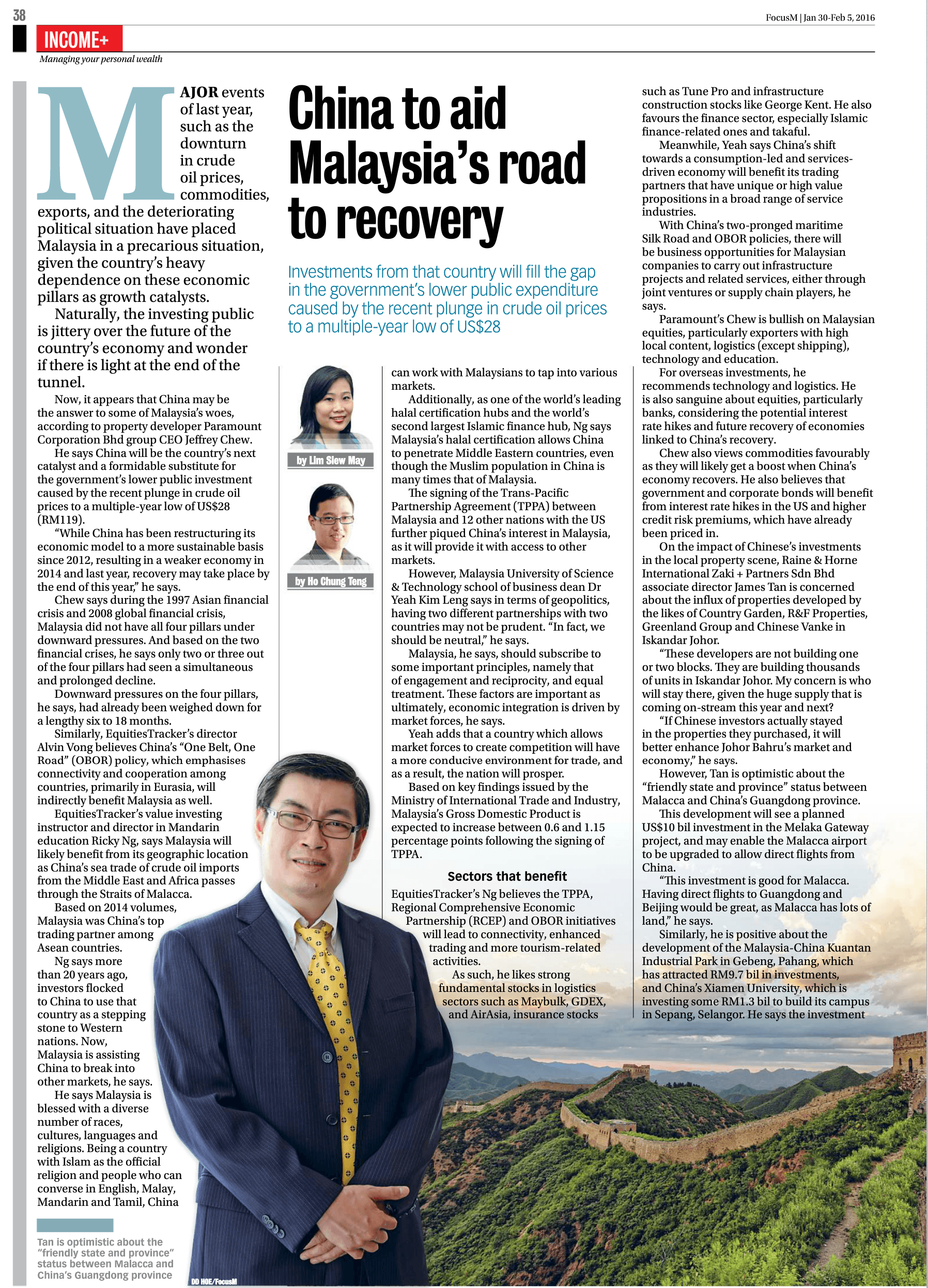 Media Coverage FOCUSMY ISSUE165 pg38 INCOME